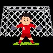 ゴールキーパーのイラスト(女子サッカー)