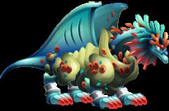imagen del dragon fondo marino de dragon city