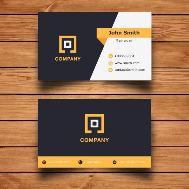 Modern Corporate Business Card Design Free Vector