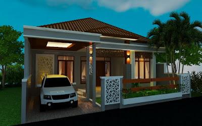 Contoh Desain Rumah Tinggal Minimalis T77