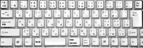 teclado japones con letras en romano y hiragana