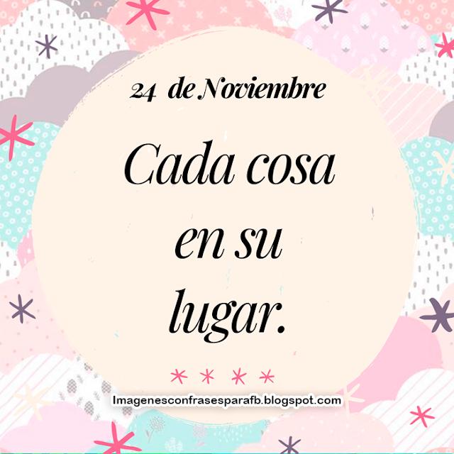 Frase del Día 24 de Noviembre