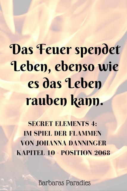 Buchrezension #181 Secret Elements 4: Im Spiel der Flammen von Johanna Danninger