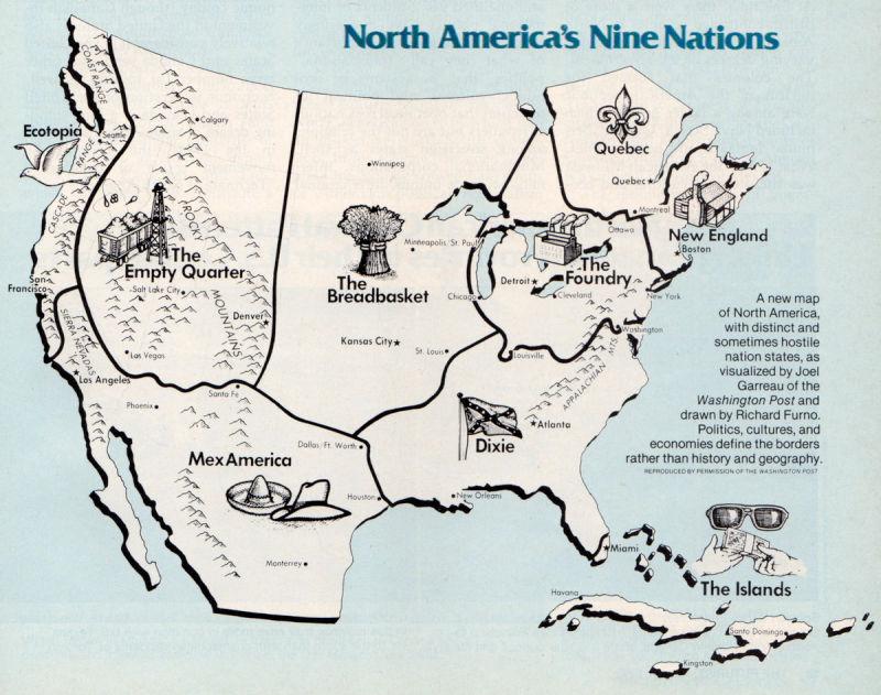 North America's nine nations