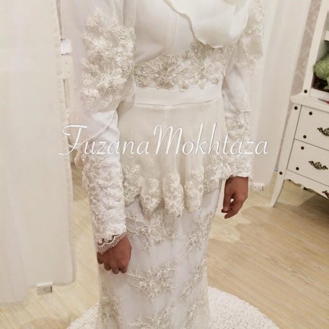 baju akad nikah putih 2015