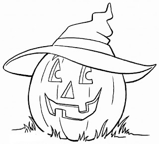 Happy-Halloween-Clipart-Black & White-For-PreSchool-Students-Free