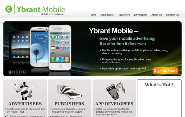 Ybrant Mobile ad serving network