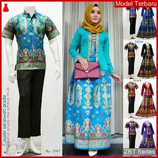 ZBT03409 Kebaya Batik Couple Sarimbit Saraswati Elegan BMGShop