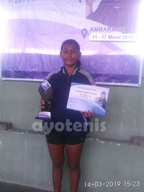 Taklukkan Unggulan 1, 2 dan 4, Nurin Nabila Sabet Juara Kejurnas Tenis Yunior Piala Yayuk Basuki 2019