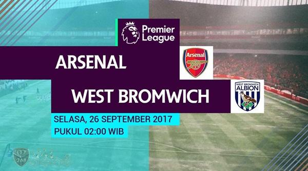 Prediksi Bola : Arsenal Vs West Bromwich Albion , Selasa 26 September 2017 Pukul 02.00 WIB