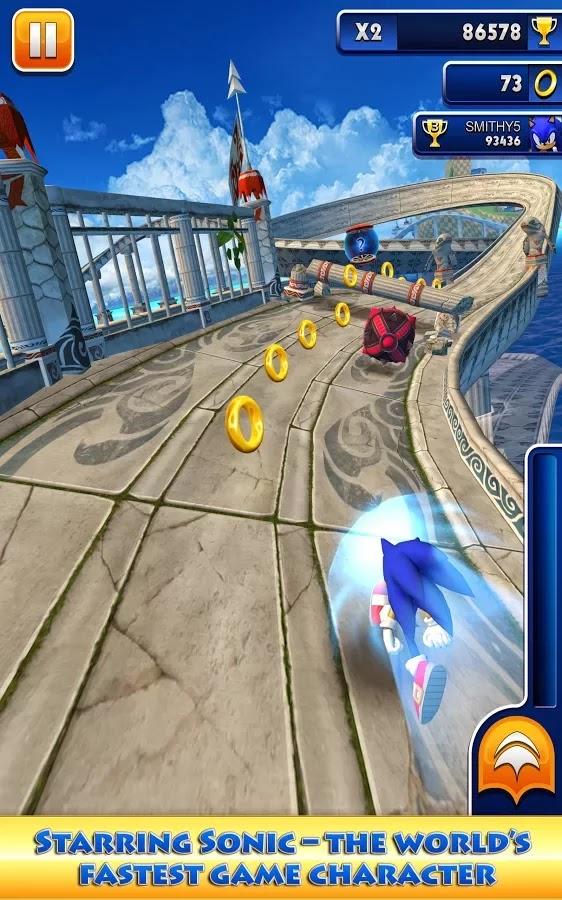 Game Sonic Dash gameplay