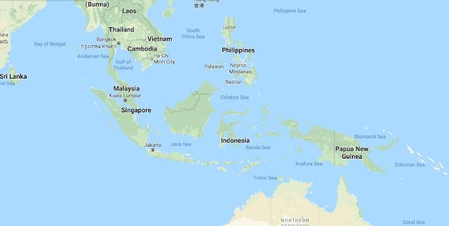 Gambar Peta Indonesia versi Google Map