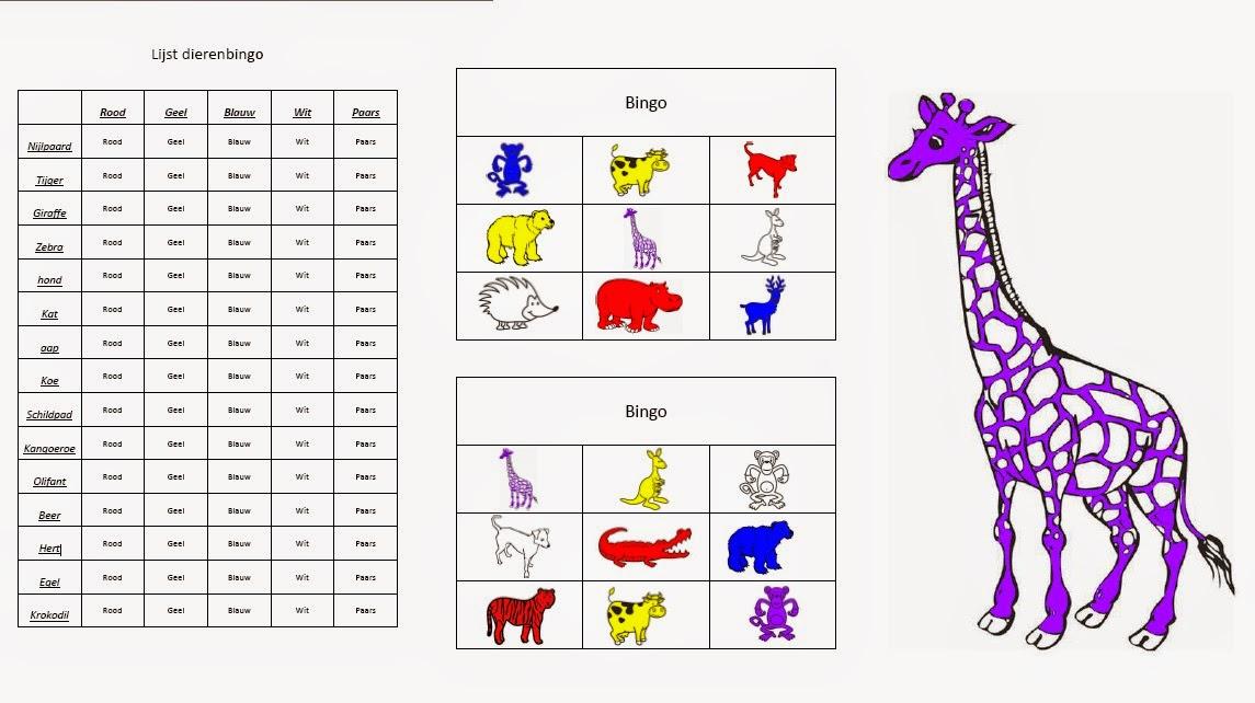 Voorkeur Miranda's lesmaterialen : dierenbingo voor groep 1 en 2 @CK53