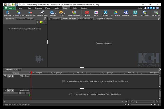 تحميل برنامج تحرير الفيديو والصوت وإنشاء مونتاج فيديو VideoPad Video Editor للويندوز