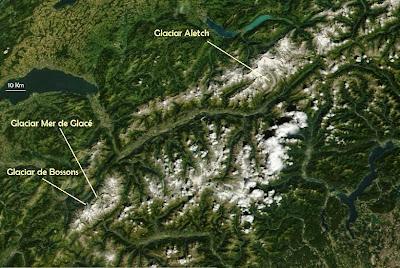 Alpes desde satélite