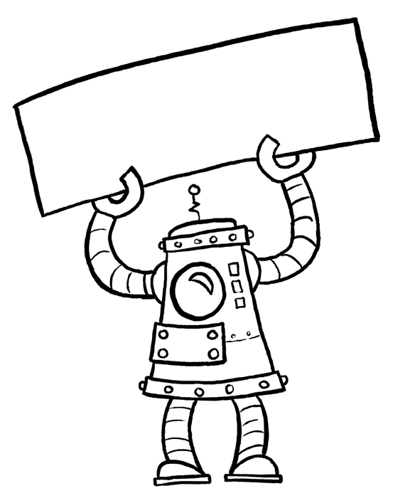 Witty Title Coming Soon: Robot Name Tags
