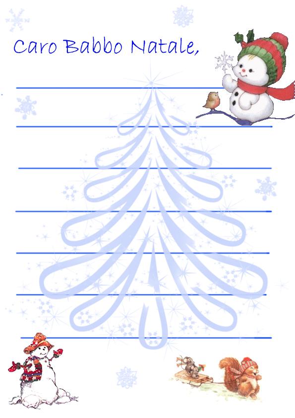 Lettera Per Babbo Natale Da Stampare E Colorare