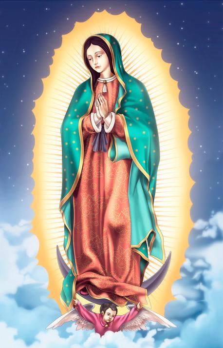 BANCO DE IMGENES Ilustraciones de la Virgencita de