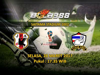 Situs Agen Bola Terpercaya - Prediksi Kualifikasi Piala Dunia Zona Asia, Jepang vs Thailand 28 Maret 2017