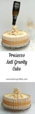 Easy to make Prosecco anti gravity cake perfect for a celebration