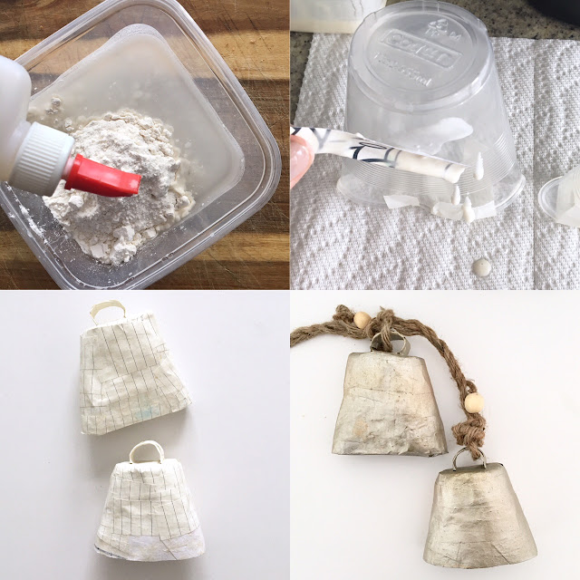 DIY Paper mache cowbells