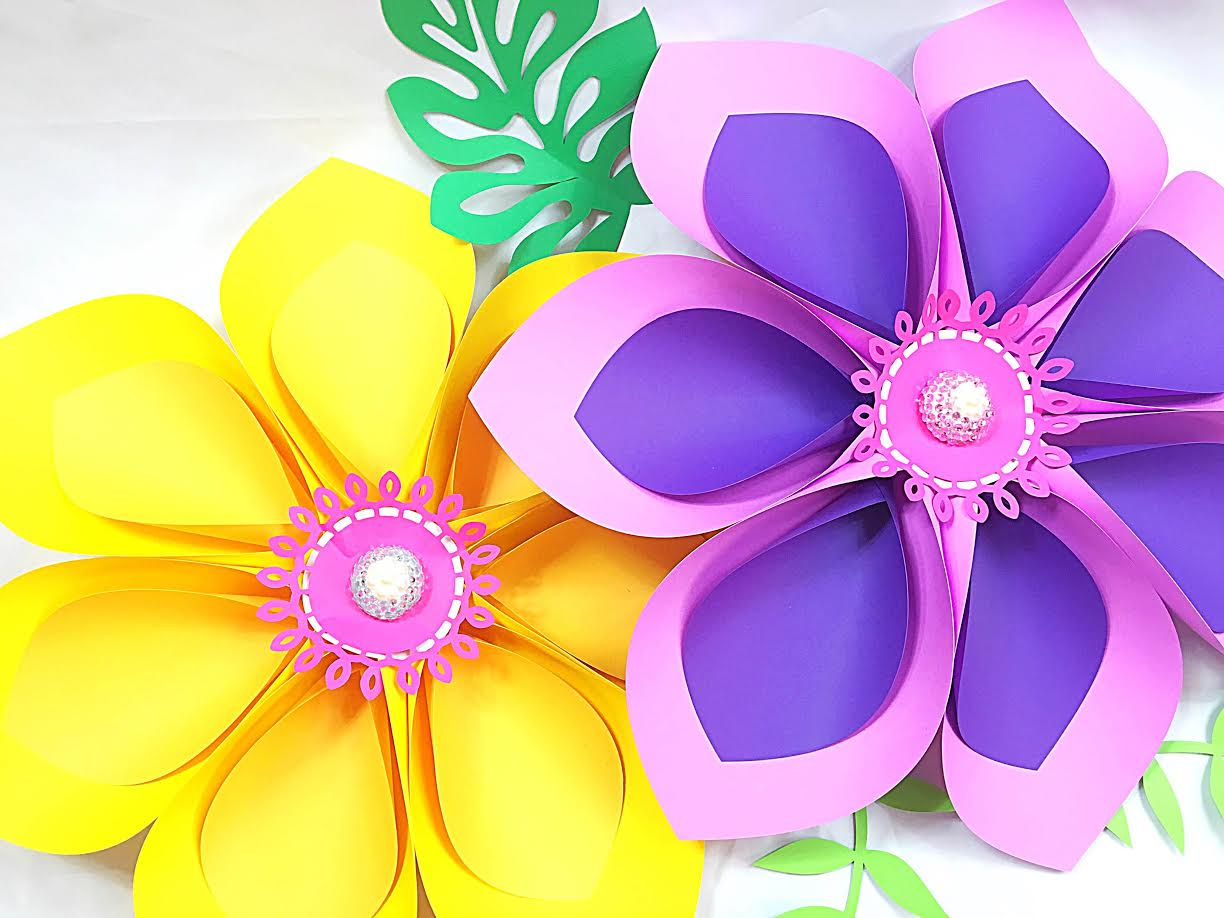 How to make giant hawaiian paper flowers abbi kirsten collections rhinestones and half of a foam ball optional see our jewel center tutorial here izmirmasajfo