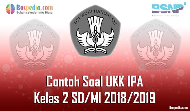 Lengkap - Contoh Soal UKK IPA Kelas 2 SD/MI 2018/2019
