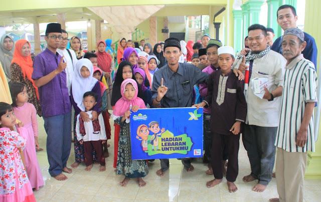 XL Dan ODOJ Indonesia Tebar Hadiah Lebaran Untuk Anak Yatim