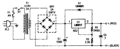 Configurable Power Supply Circuit Diagram