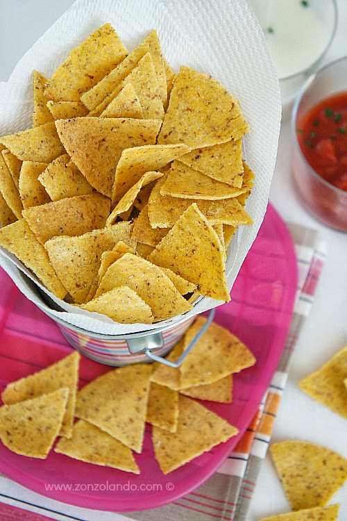 Ricetta Tortilla Chips Bimby.Tortilla Chips Di Farina Di Mais Gialla Zonzolando