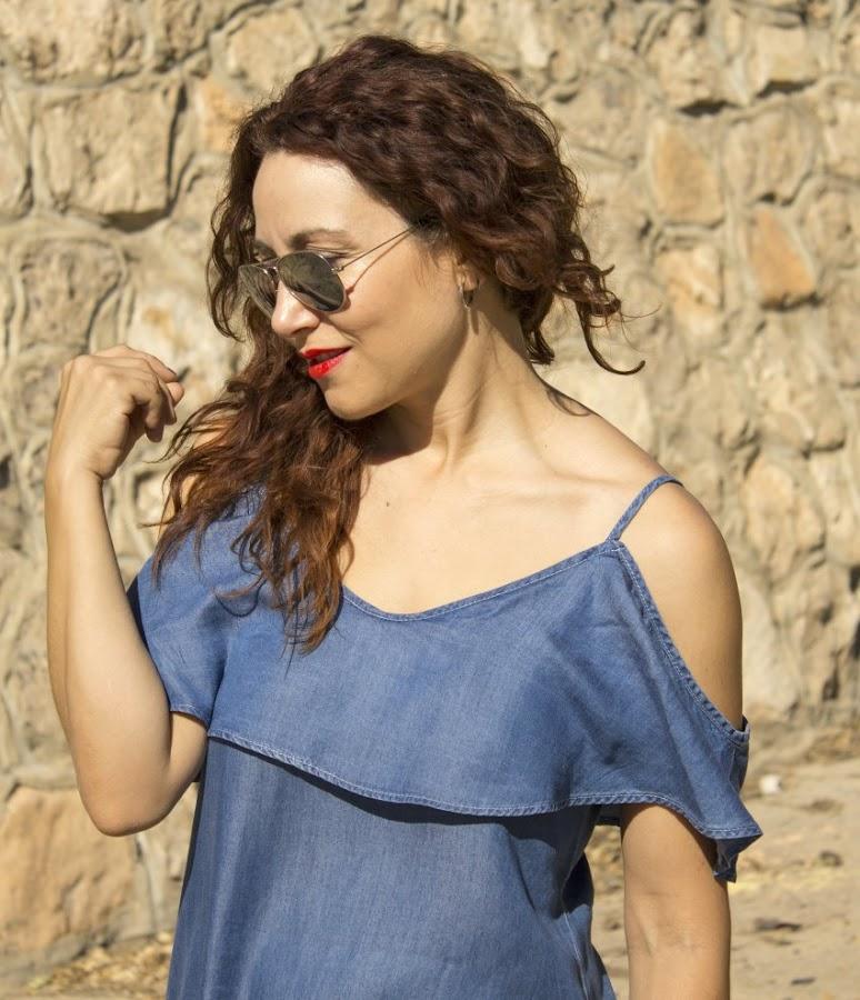 sammydress_denim_offshoulder_dress_melange_boutique_fashion_blog_de_moda_zapatos_blucher_zalando_rayban_5