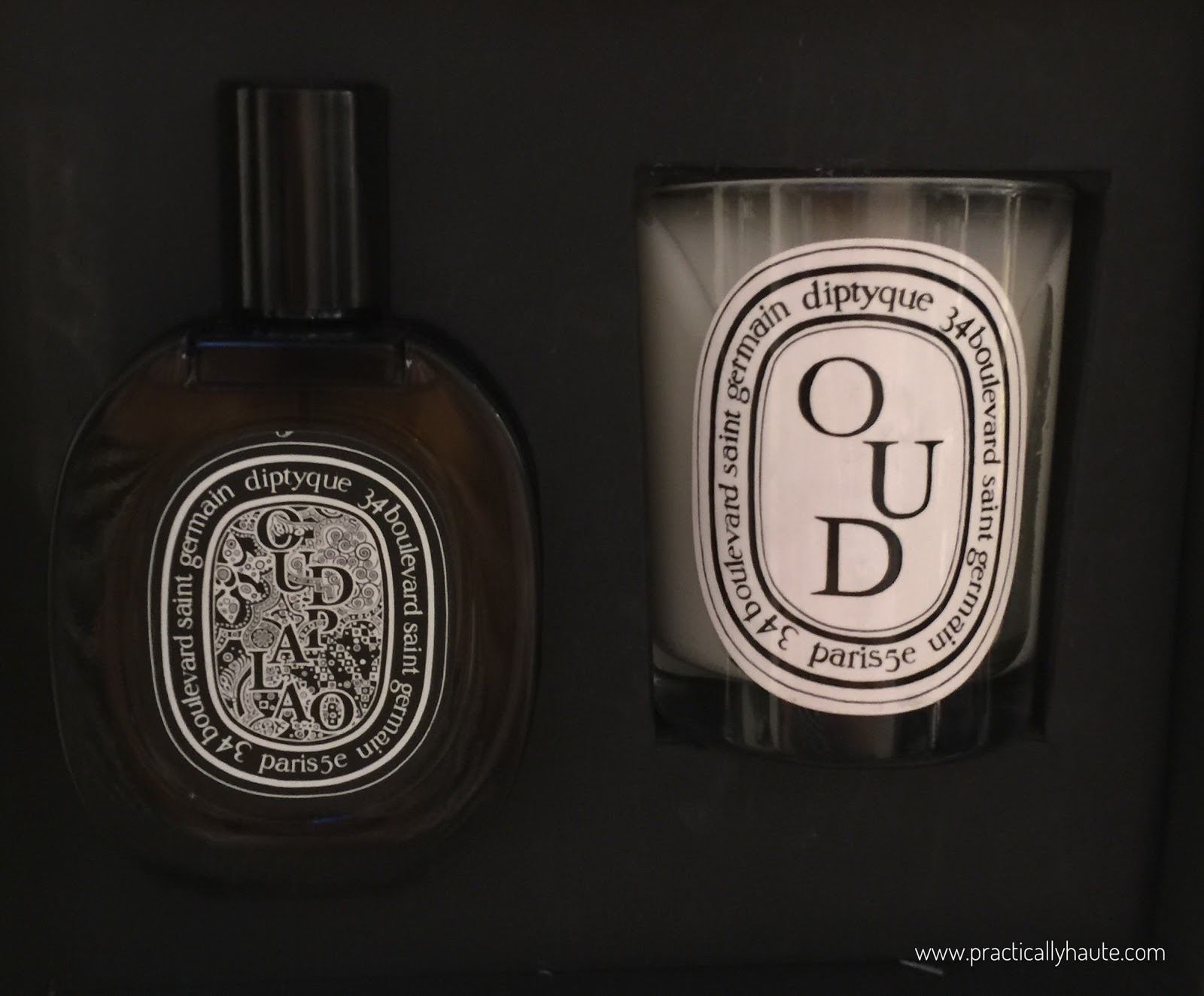 Diptyque sample sale Oud candle set
