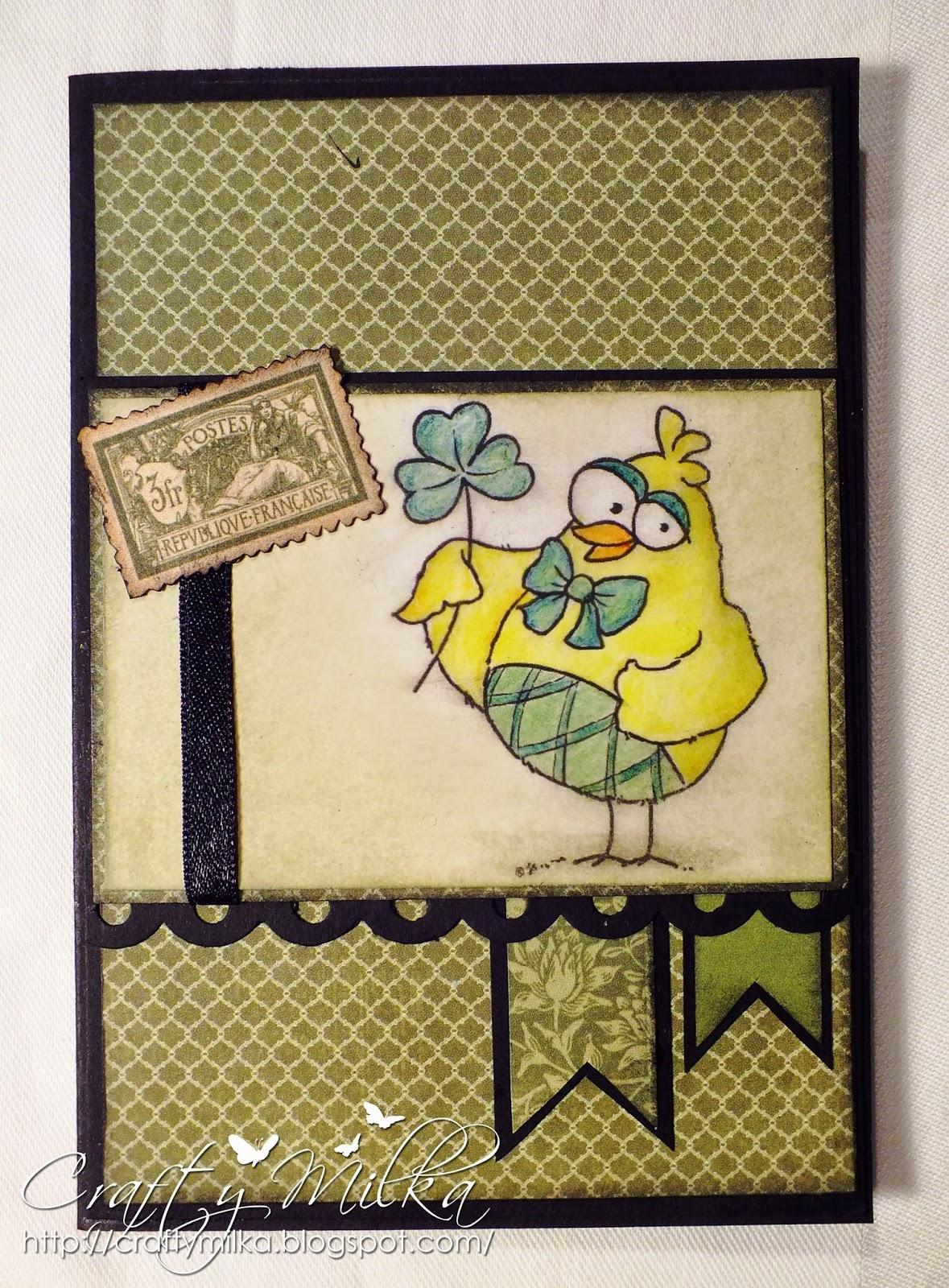 http://craftymilka.blogspot.com/2015/03/lucky-card.html