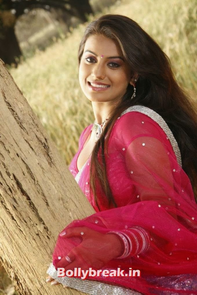 Akshara Singh in red saree, Akshara Singh Hot Pics in Saree & Punjabi Suit