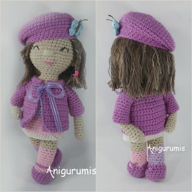 Muñeca amigurumi Carlota diseño de anigurumis