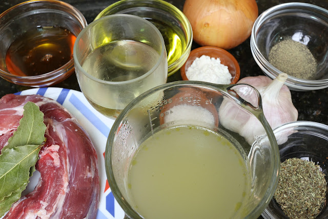 Ingredientes para solomillo a la miel