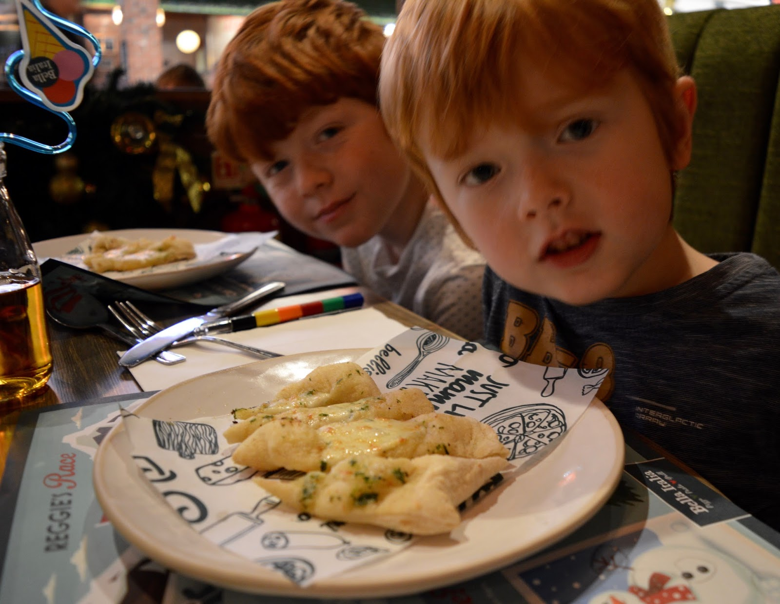 Bella Italia at intu Eldon Square Newcastle | Children's Menu Review - kids garlic bread starter