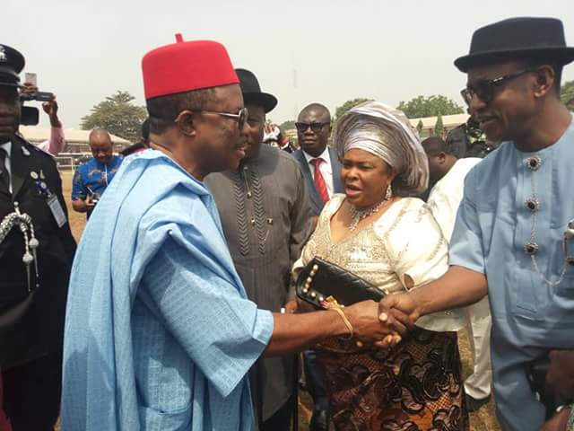 Photos: Former President Goodluck Jonathan and wife Patience, others arrive Anambra State for the burial of late Dr Alex Ekwueme