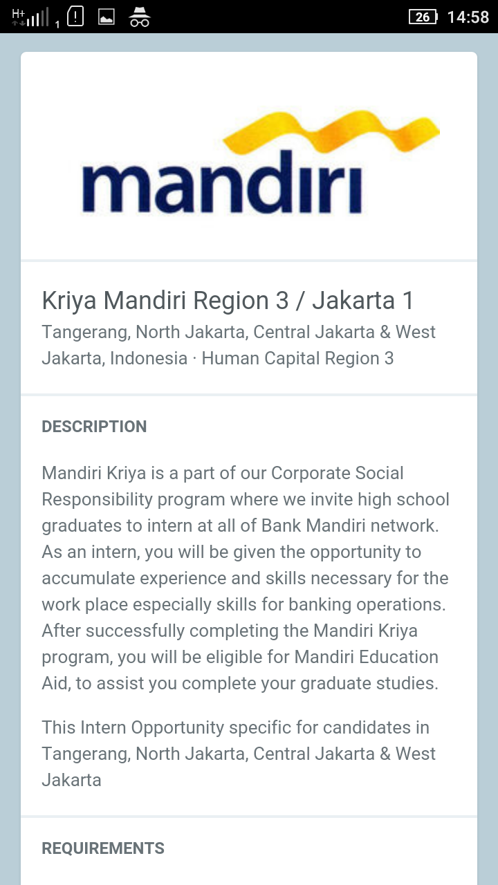 cover letter kriya mandiri
