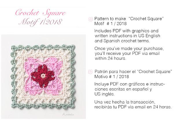 Crochet Square Motif 1_2018 pattern by Anabelia Craft Design