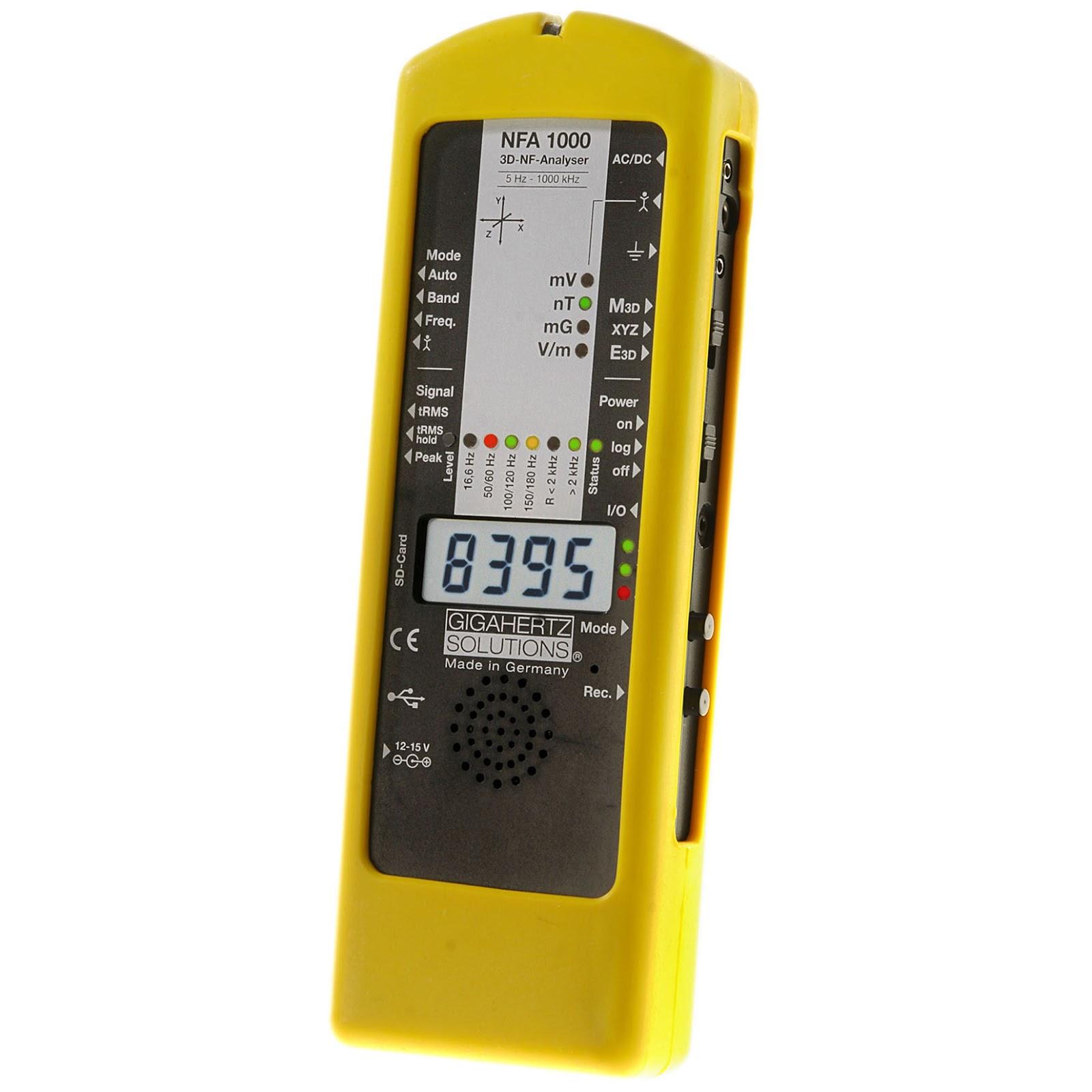 EMF Meter: NFA1000 Gigahertz เครื่องวัดสนามแม่เหล็ก EMF Meter