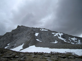 Mt. Tyndall's North Rib and the storm coming in.