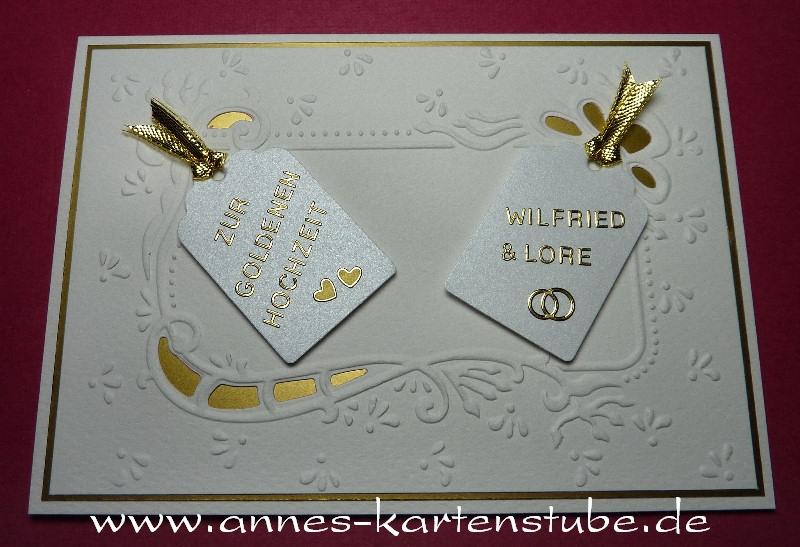 Very Annes Kartenstube: Karte zur Goldenen Hochzeit XI09