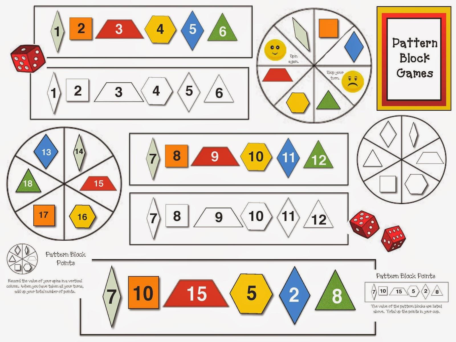 Classroom Freebies Pattern Block Games