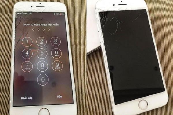 iPhone 6 bi hư hỏng mặt kính