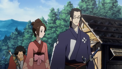 A scene from Samurai Champloo with the main characters