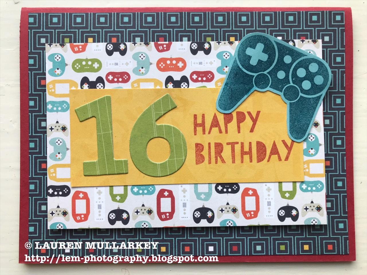 A 16th Birthday Card