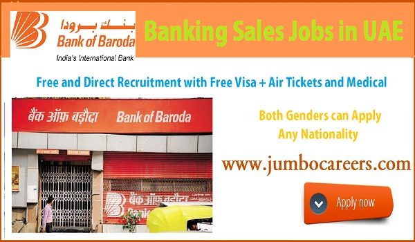 UAE bank jobs with free visa and air ticket, Current bank jobs in Gulf countries,