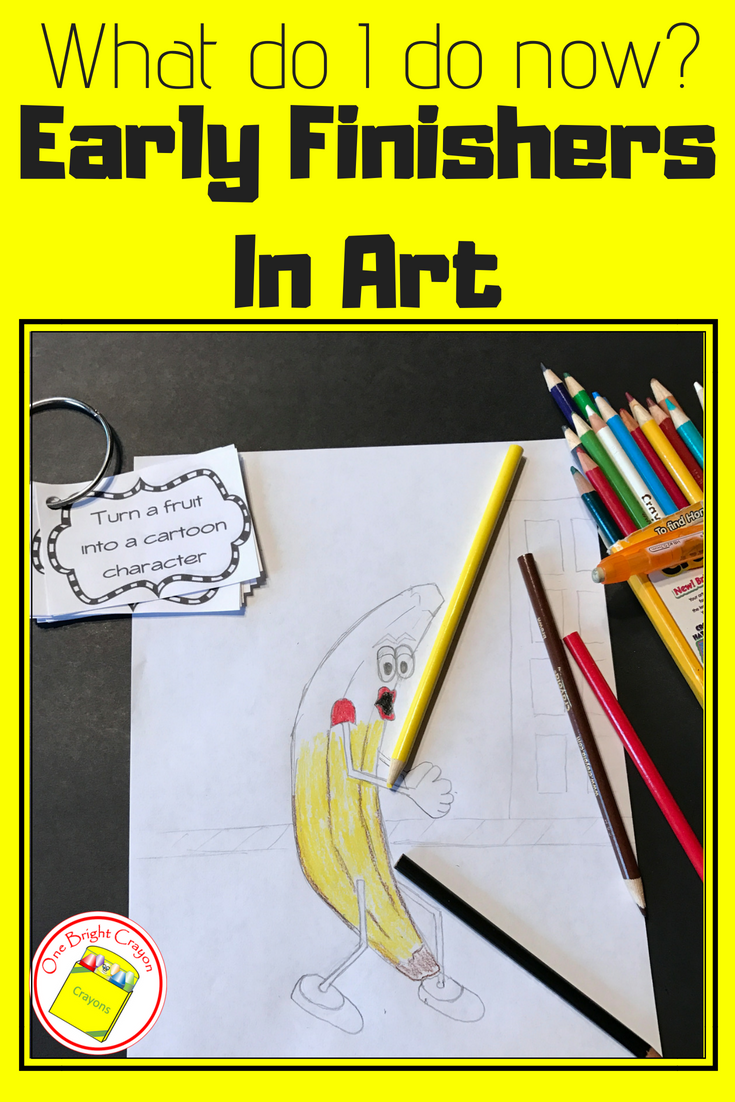 One Bright Crayon Early Finishers In Art Drawing Prompts