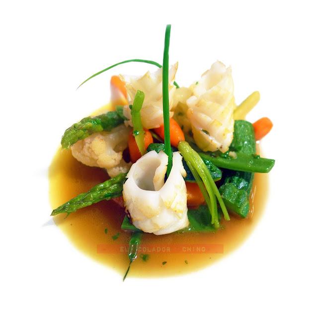 Receta de salteado de verduras con calamar Hofmann elcoladorchino